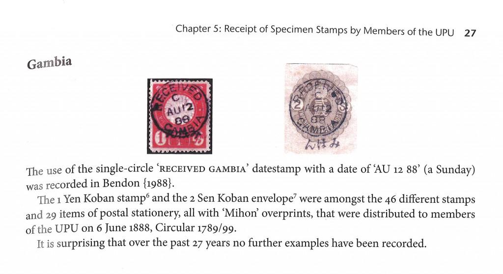 3 UPU SPECIMEN STAMPS 1878-1961 by James Bendon